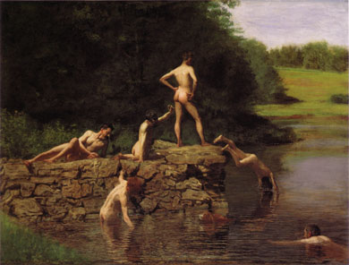 The Swimming Holw by Thomas Eakins, 1885