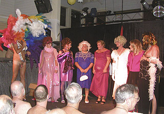 Miss CMEN Queen 2004 Paul with other contestants