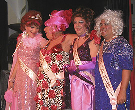 Miss CMEN Queen 2004 with Miss CMEN Queen 2003 and runners up