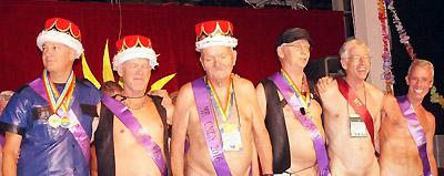 Mr. CMEN 2016 Norm W. (center) with past Mr. CMEN Winners