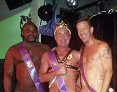 Jim, Mr. CMEN 2003 with runners up Gary and Scott