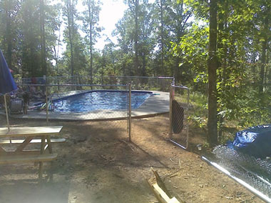 Cool off in the Whispering Oaks pool